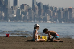 Vancouver Summer - Kids at the Beach Copyright Shelagh Donnelly